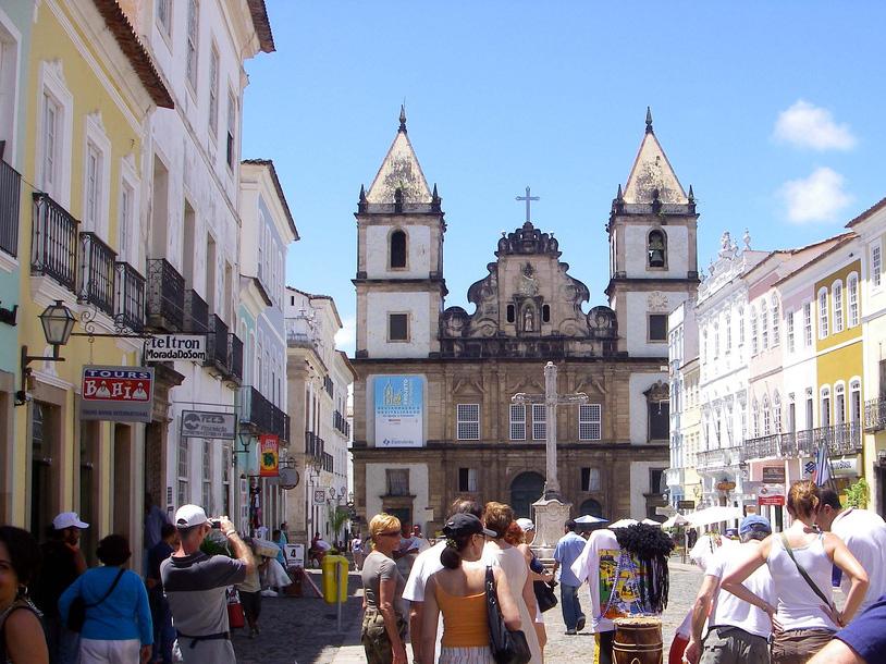 Centro de Salvador na alta temporada