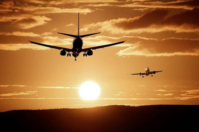 Aviões em voo