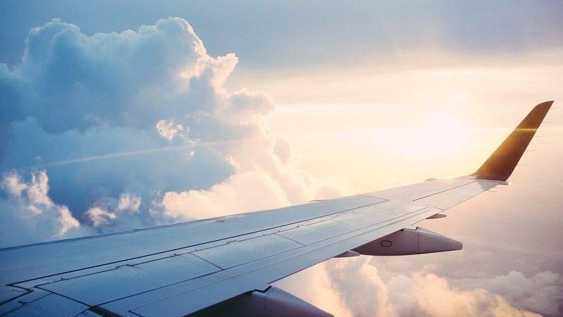 Avião em voo