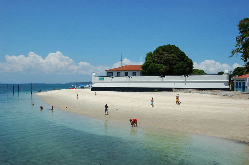 Chegada à Ilha de Itaparica
