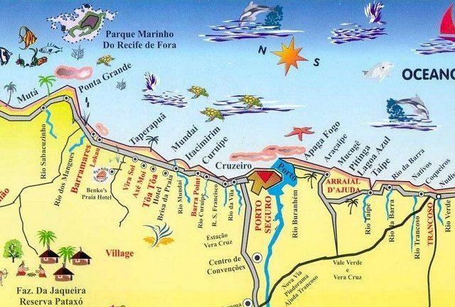 Mapa turístico de Porto Seguro