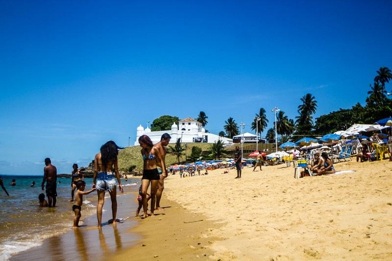Praia de Boa Viagem em Salvador