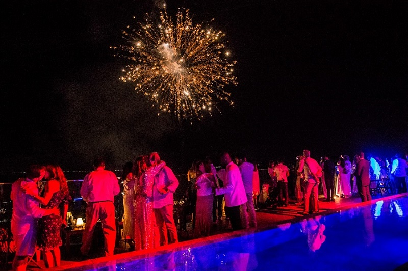 Festa de ano novo em hotel de Salvador
